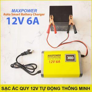 Sac Ac Quy Tu Dong Thong Minh 12V 6A Lazada