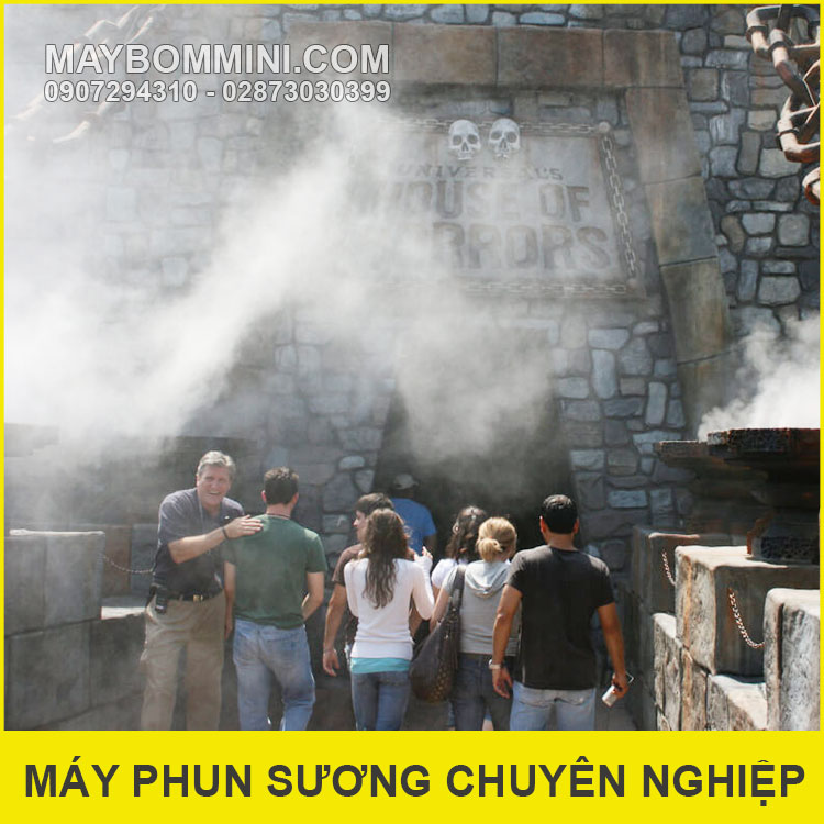 He Thong Phun Suong Lam Mat Nha Hang San Vuon