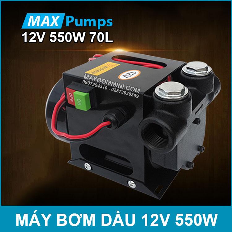 May Bom Dau 12V 550W 70L Maxpumps Chinh Hang