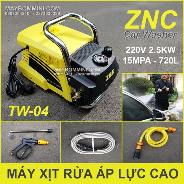 May Rua Xe Ap Luc Cao 220V 2500W ZNC