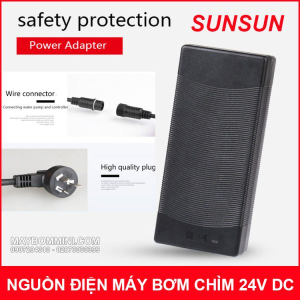 Nguon Dien May Bom Chim 24V DC Sunsun