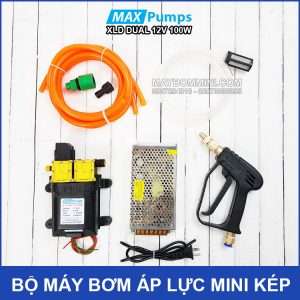 Bo May Bom Ap Luc Mini Kep 12v 100W Tu Dong