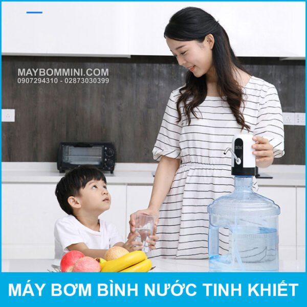 May Bom Binh Nuoc Uong Gia Dinh