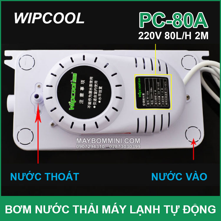 Bom Nuoc May Lanh Cong Nghiep Wipcool PC 80A