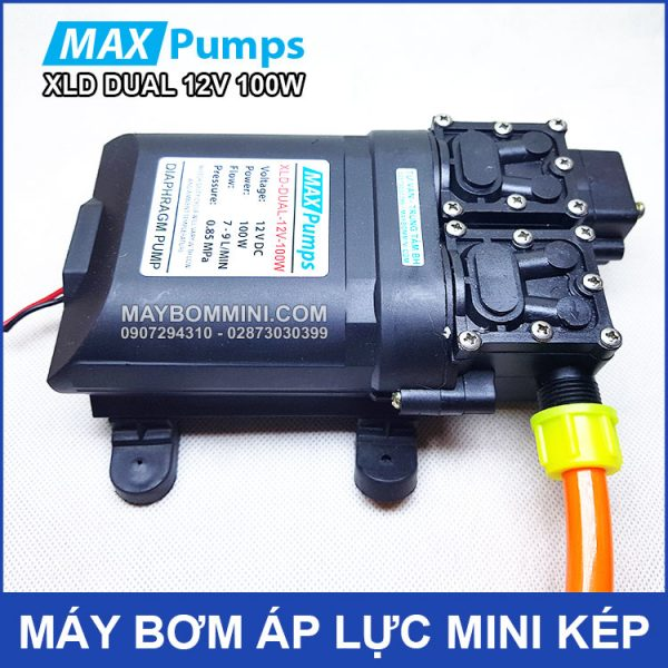 May Bom Mini Ap Luc Kep 12v 100W Maxpumps
