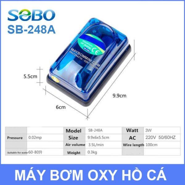 Kich Thuoc Bom Oxy Ho Ca Sobo SB 248A