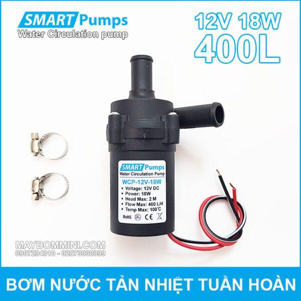 May Bom Nuoc Tan Hiet Tuan Hoan 12V 18W 400L Smartpumps