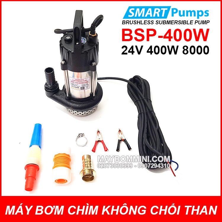 May Bom Chim Khong Choi Than 24V 400W 8000L